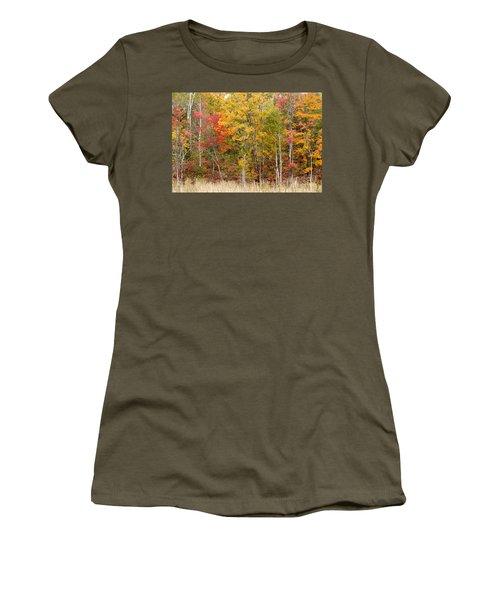 Autumn In Muskoka Women's T-Shirt (Junior Cut) by Les Palenik