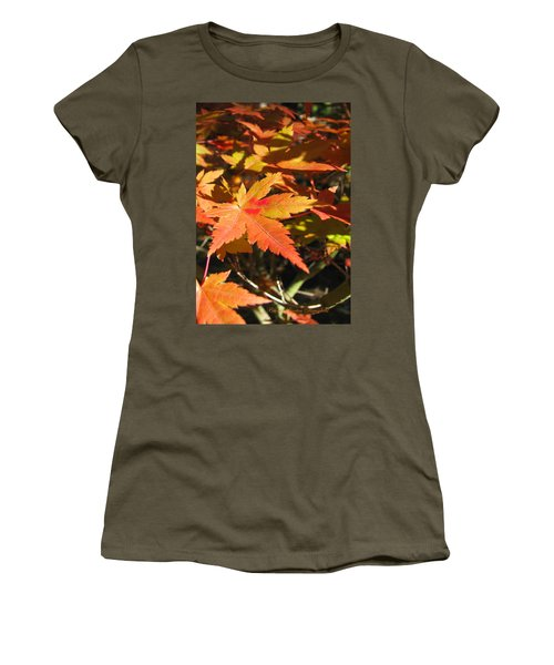 Autumn Leaves 9 - Autumn Leaves Macro Women's T-Shirt (Athletic Fit)