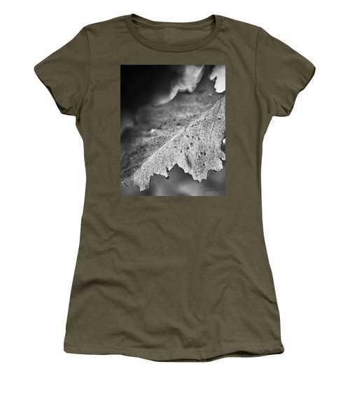 Autumn Leaves B And W Women's T-Shirt