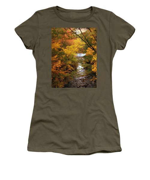 Women's T-Shirt featuring the photograph Autumn On Display by Jessica Jenney