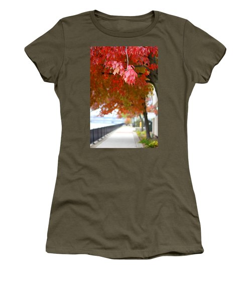 Autumn Sidewalk Women's T-Shirt
