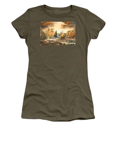 Autumn Sky No W103 Women's T-Shirt (Junior Cut) by Kip DeVore