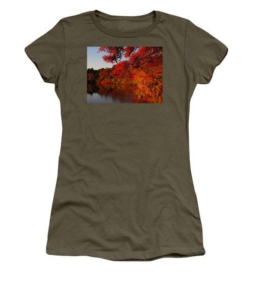 Women's T-Shirt (Junior Cut) featuring the photograph Autumn Splendor  by Dianne Cowen