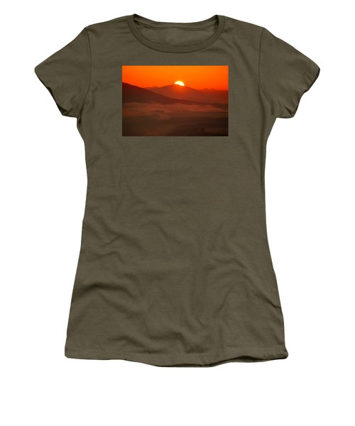 Autumn Sunrise On The Lilienstein Women's T-Shirt