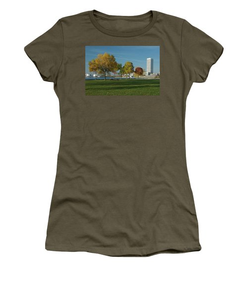 Women's T-Shirt (Junior Cut) featuring the photograph Autumn Trees by Jonah  Anderson