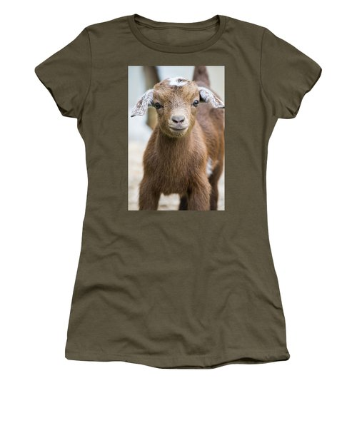 Baby Goat Women's T-Shirt (Junior Cut) by Shelby  Young