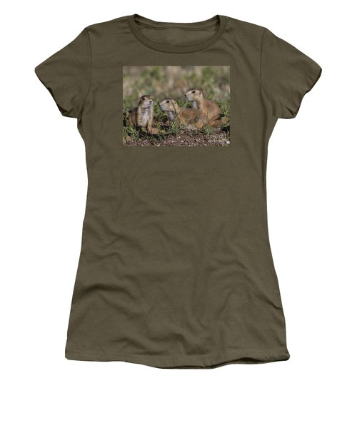 Baby Prairie Dogs Women's T-Shirt (Athletic Fit)