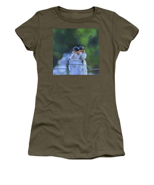 Baby Swallows On Post Women's T-Shirt