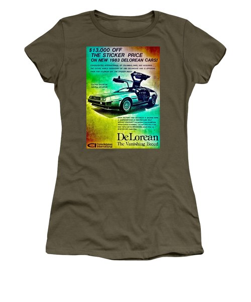 Back To The Delorean Women's T-Shirt