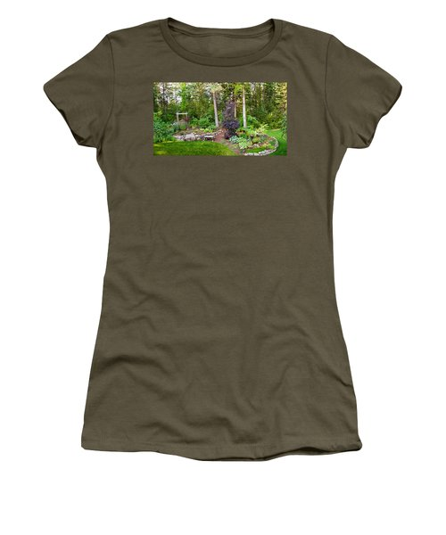 Backyard Garden In Loon Lake, Spokane Women's T-Shirt (Athletic Fit)