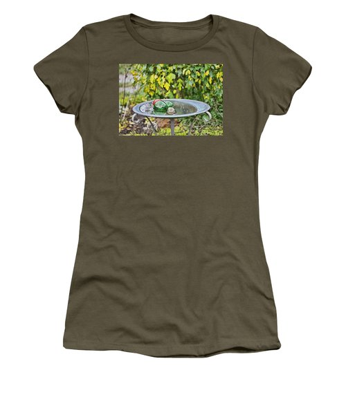Women's T-Shirt (Junior Cut) featuring the photograph Balls In Water by Denise Romano