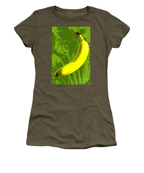 Banana Pop Art Women's T-Shirt (Athletic Fit)