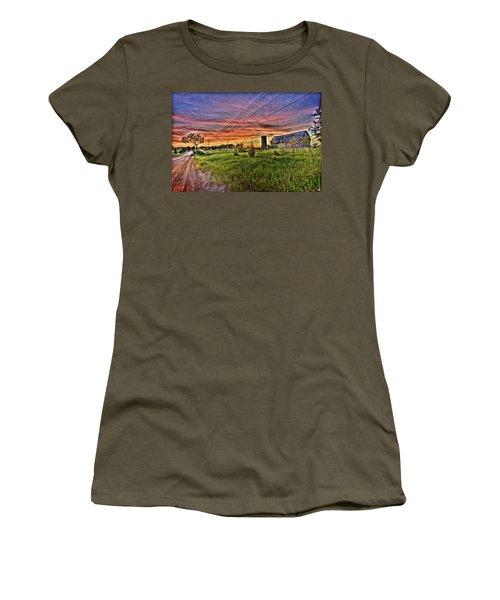 Barn Finds Women's T-Shirt (Junior Cut) by Nicholas  Grunas