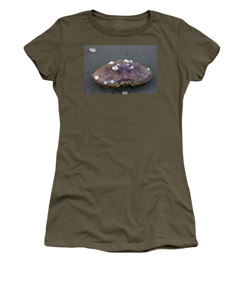 Barnacled Crab Shell Women's T-Shirt (Athletic Fit)
