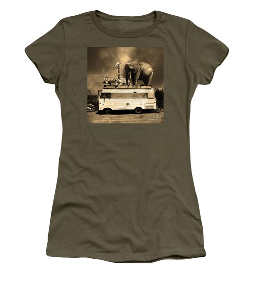 Barnum And Bailey Goes On A Road Trip 5d22705 Square Sepia Women's T-Shirt