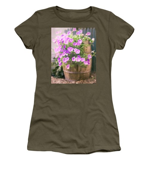Barrel Of Flowers - Floral Arrangements Women's T-Shirt