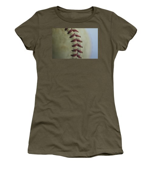 Baseball Macro 2 Women's T-Shirt (Junior Cut) by David Haskett