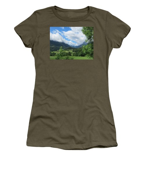 Bavarian Countryside Women's T-Shirt (Athletic Fit)