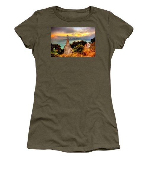 Bay Bridge Women's T-Shirt (Athletic Fit)
