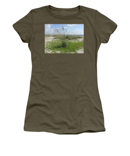 Beach Flowers And Oats 2 Women's T-Shirt (Athletic Fit)