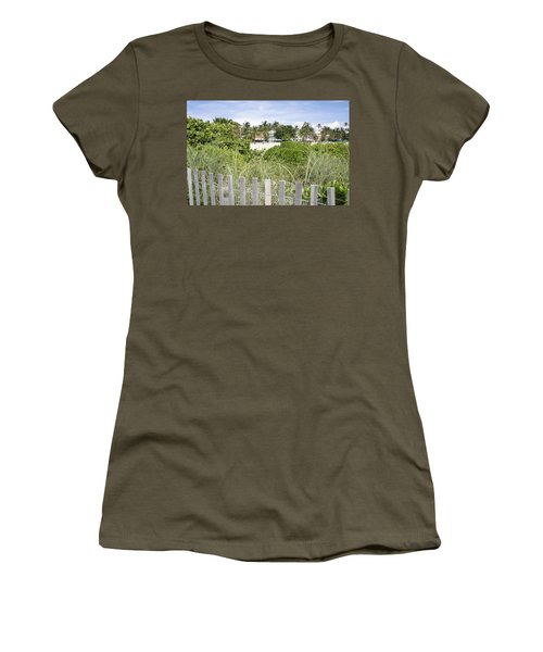Women's T-Shirt (Junior Cut) featuring the photograph Beach Path by Laurie Perry