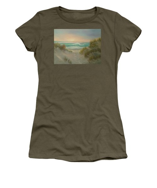 Cape Cod Beach Sunset Dunes Print  Women's T-Shirt