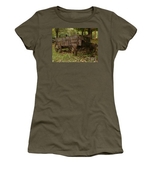 Beaten By Time Women's T-Shirt (Junior Cut) by Sara  Raber