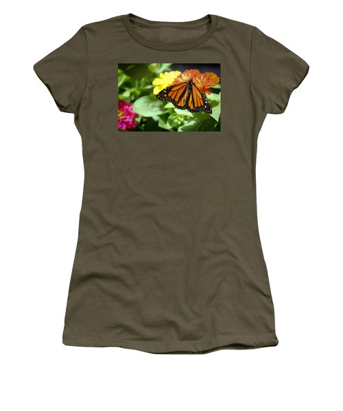 Women's T-Shirt (Junior Cut) featuring the photograph Beautiful Monarch Butterfly by Patrice Zinck