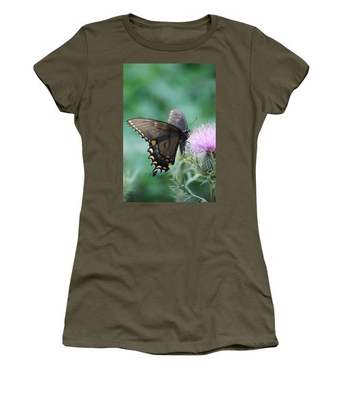 Beauty And Thistle Women's T-Shirt (Athletic Fit)