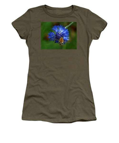 Women's T-Shirt (Junior Cut) featuring the photograph Bee by Leticia Latocki