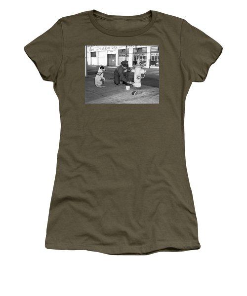 Begging Dog Hopes For Fast Job Women's T-Shirt