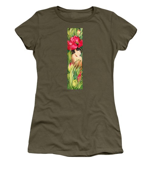 Behind The Curtain Of Colours -the Tulip Women's T-Shirt