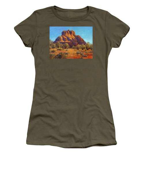 Bell Rock, Sedona Arizona Women's T-Shirt (Athletic Fit)