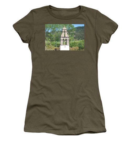 Women's T-Shirt (Junior Cut) featuring the photograph Bell Tower 1584 1 by George Katechis