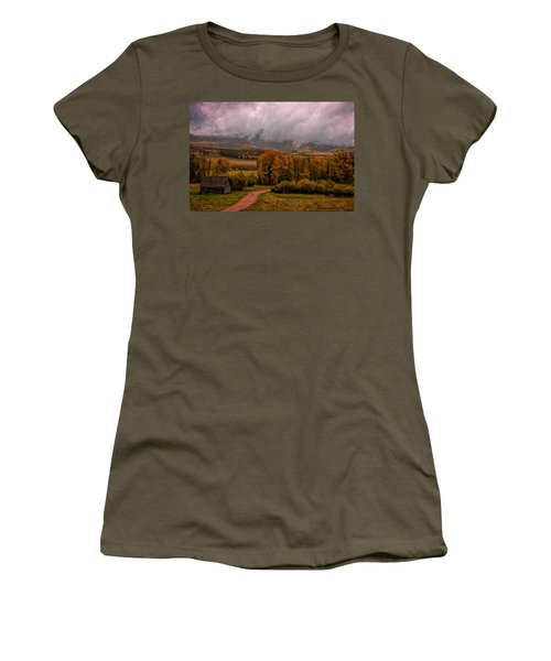 Women's T-Shirt (Junior Cut) featuring the photograph Beyond The Road by Ken Smith