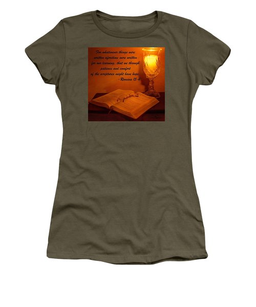 Bible By Candlelight Women's T-Shirt