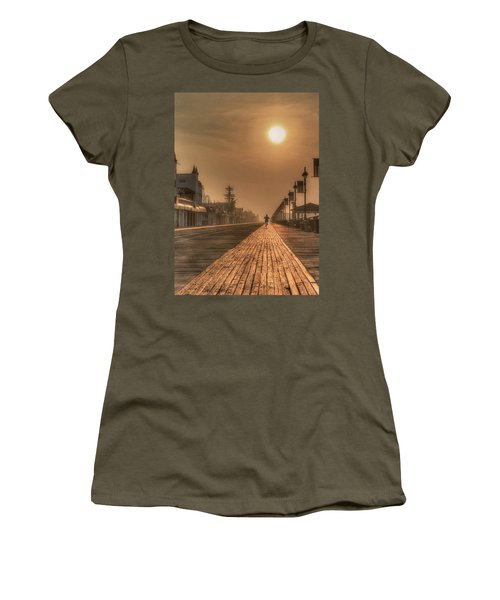Bicycle Boardwalk Women's T-Shirt (Athletic Fit)