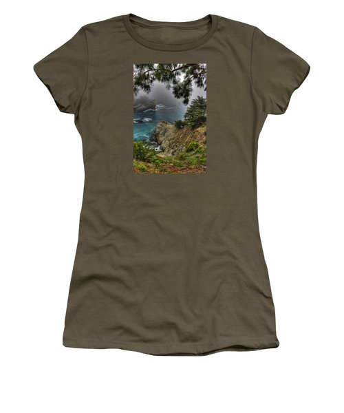 Big Sur Julia Pfeiffer State Park-1 Central California Coast Spring Early Afternoon Women's T-Shirt (Athletic Fit)