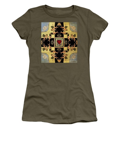 Women's T-Shirt (Junior Cut) featuring the drawing Big Sur Party X 4 by Joseph J Stevens