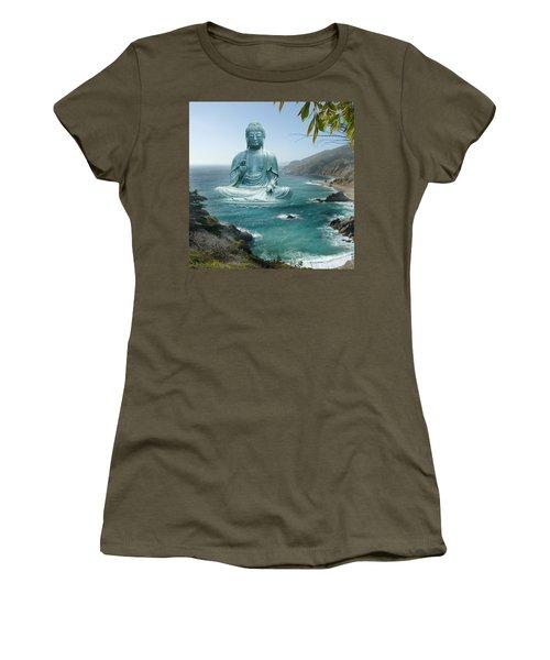 Big Sur Tea Garden Buddha Women's T-Shirt