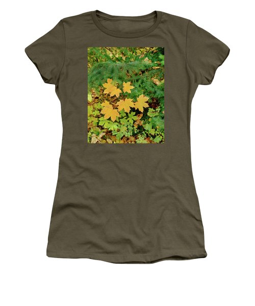 Bigleaf Maple Leaves And Douglas Fir Women's T-Shirt