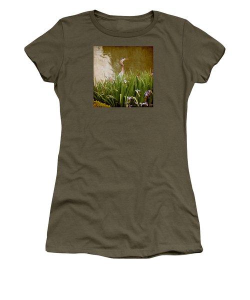 Women's T-Shirt (Junior Cut) featuring the photograph Bird In The Water by Milena Ilieva