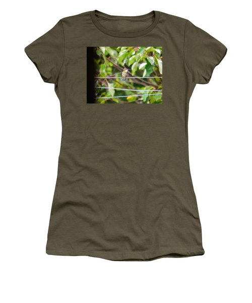 Women's T-Shirt (Junior Cut) featuring the photograph Bird On A Wire by Nick Kirby