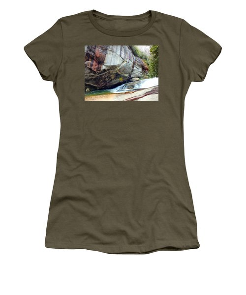 Birdrock Waterfall In Spring Women's T-Shirt