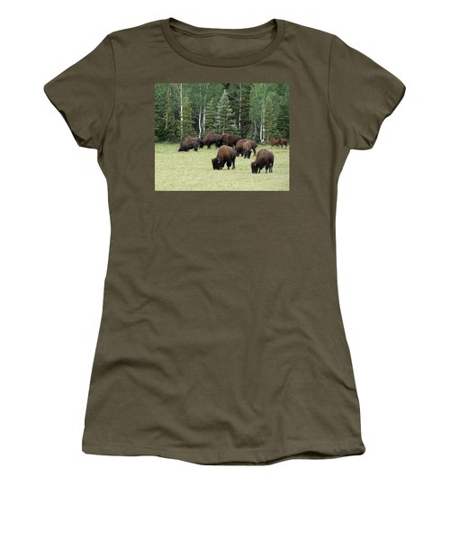 Bison At North Rim Women's T-Shirt (Athletic Fit)