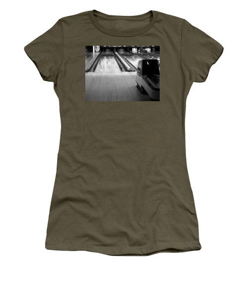 Black And White Bowling Alley Women's T-Shirt