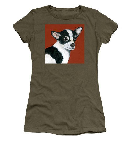 Black And White Chihuahua Women's T-Shirt
