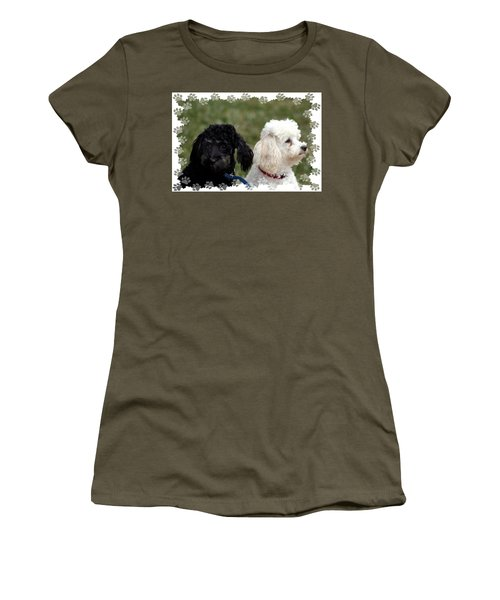 Women's T-Shirt (Athletic Fit) featuring the photograph Black And White by Ellen Barron O'Reilly