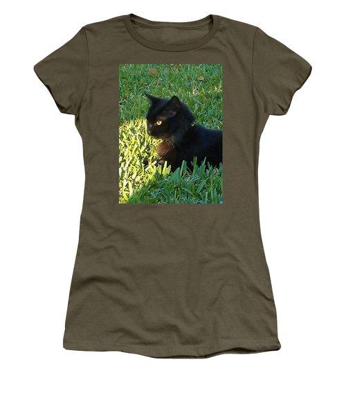 Black Cat Women's T-Shirt (Athletic Fit)