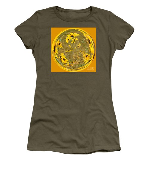 Black Eyed Susans Women's T-Shirt (Athletic Fit)